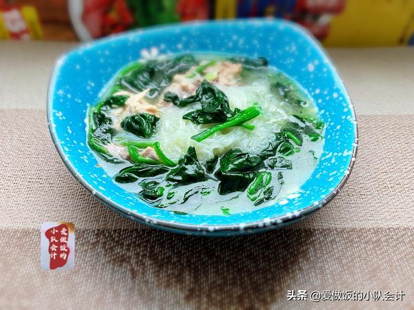 菠菜排骨汤的做法