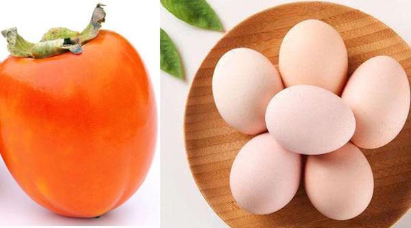 鸡蛋和柿子能在一起吃吗