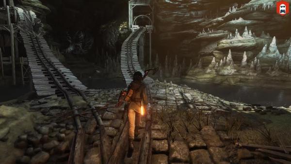 古墓丽影崛起审判矿坑的小铁轨怎么过 审判矿坑的小铁轨通过方法