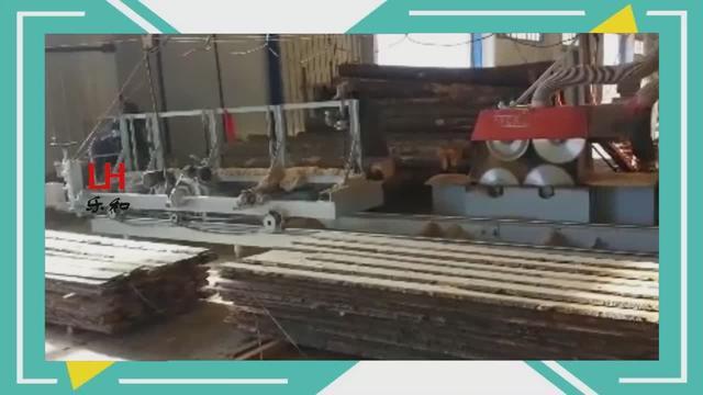 木工圆木推台锯
