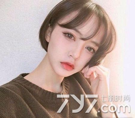 韩式短发发型图片,短发微卷设计时髦翻倍