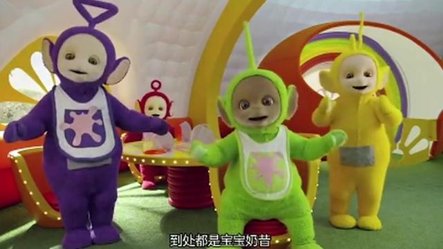 天线宝宝:丁丁在做奶昔然后分给了其他的宝宝们
