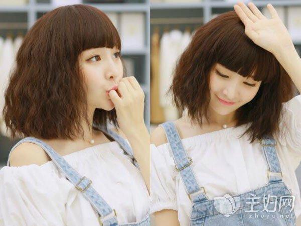 女生短发小卷满头烫发型 最潮烫卷发时髦洋气太有范 - 发型站