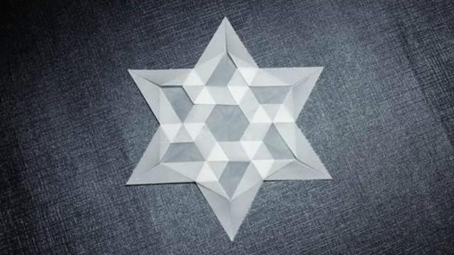 冬天的浪漫小手工,立体折纸雪花、晕染折纸雪花(附教程)