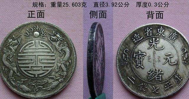 中国近代机制币十大珍:广东省造光绪元宝双龙寿字币