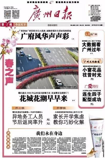 今日广州日报头版封面