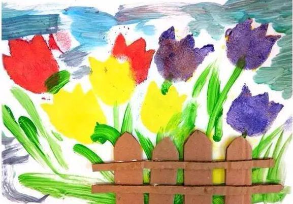 水粉画图片简单好看花