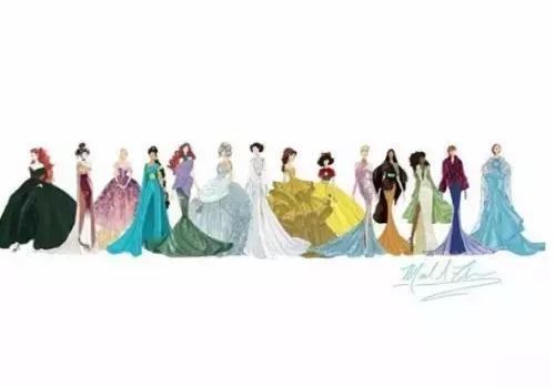 迪士尼公主的果冻连衣裙,漂亮的灰姑娘、乐佩和贝儿