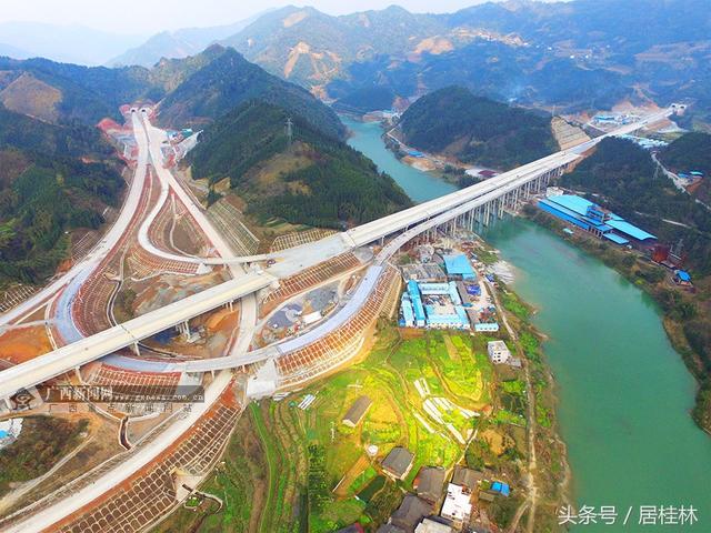 航拍:桂三高速将于10月全线通车 这条侗乡梯田上的路美爆了!