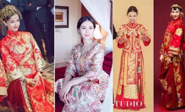 月白中式嫁衣秀