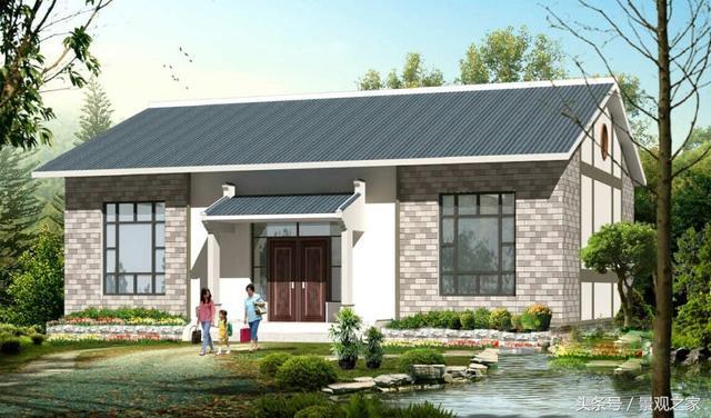 15万就能建的一层农村别墅平房,3套方案附图纸