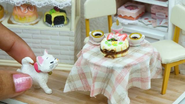 精致蛋糕房玩具模型DIY 手工打造精美微型模型