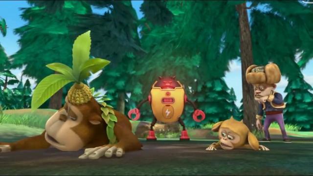 熊出没: 光头强买了机器小怪兽, 帮他砍了很多树, 肥波因此受冷落