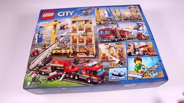 LEGO 城市组系列乐高 城市消防救援队 配件丰富乐高大型拼装玩具