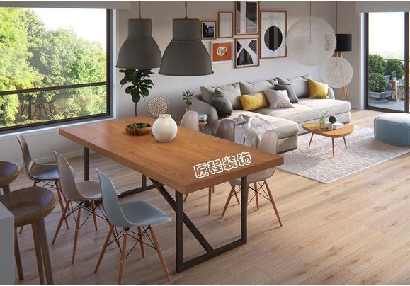 145平米搭配胡桃木色家具,北欧简约风格的家