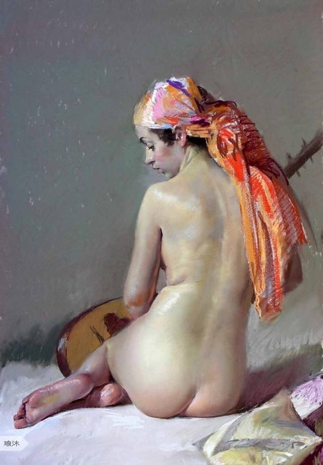 『 大师杰作 -- 西班牙色粉画大师Felipe.Santamans唯美人体欣赏 』