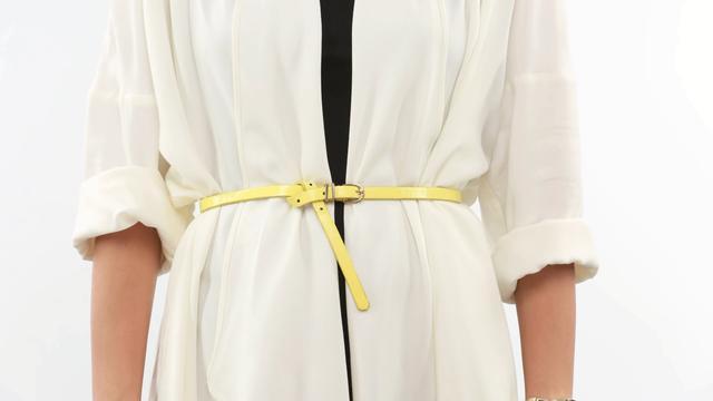 皮衣腰带怎样打蝴蝶结