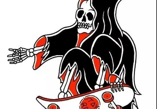 滑板纹身小图案