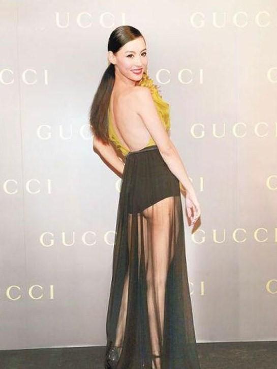 张柏芝的那条透视裙令人想入非非(图)
