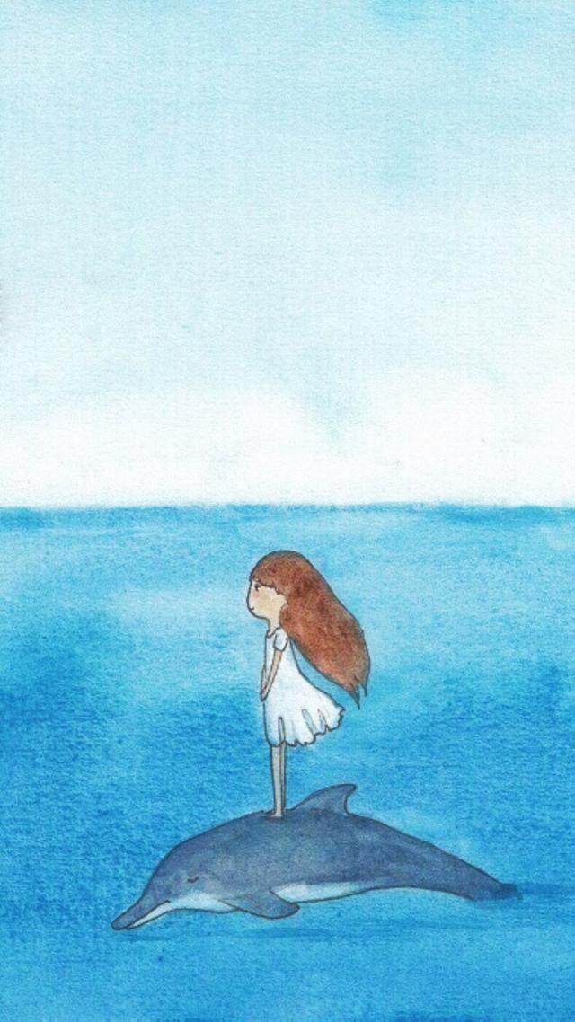 面朝大海背影壁纸