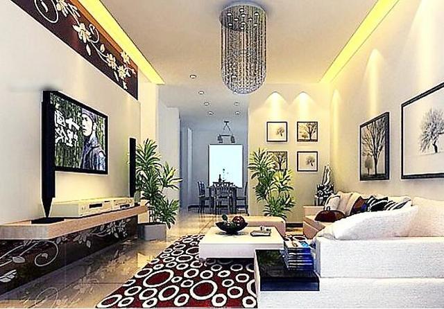 20款客厅电视背景墙设计装修效果图,美观时尚