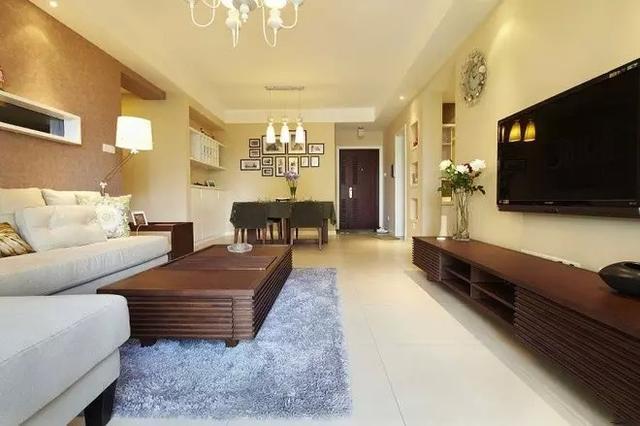 小清新风格的二居室,装修设计时尚温馨,家里人都很喜欢