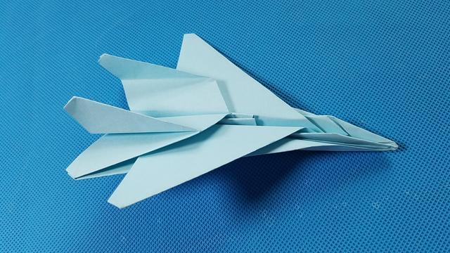 折纸王子教你折纸F15战斗机 折纸飞机9分钟学会 讲解详细