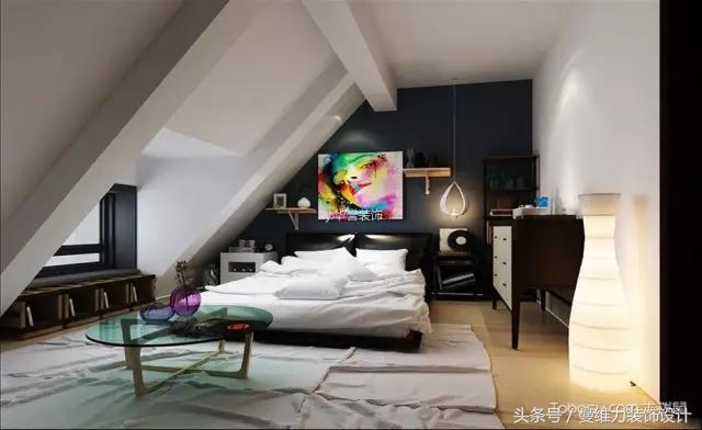 斜顶阁楼卧室吊顶