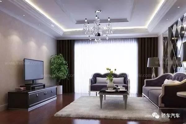 石膏线条电视墙造型
