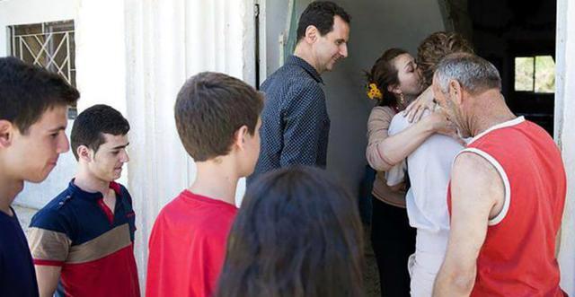 叙利亚总统夫妇照片