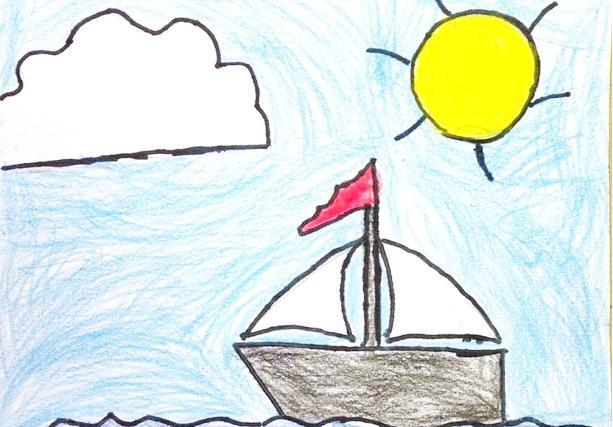 跟我一起画儿童沙滩用品着色书!度假画游泳池沙滩球救生圈
