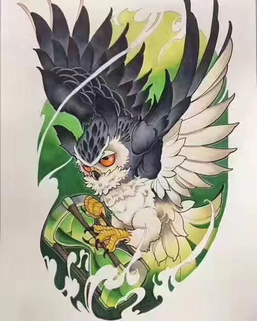 欧美纹身手稿素材大图