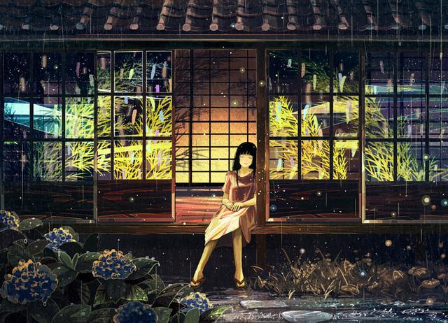 女生打伞伤感头像,一个人在雨中寂寞孤独着-女生头像