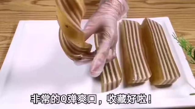 一款美味的桂花椰汁千層馬蹄糕教程