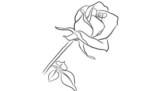 用铅笔画玫瑰花的简笔画步骤 - 聚巧网
