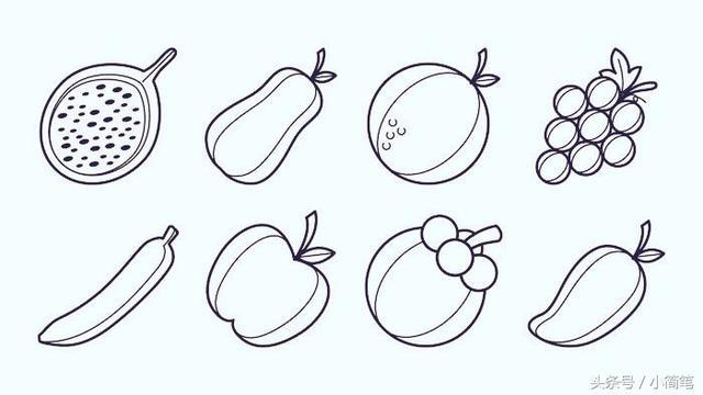 幼儿简笔画大全水果