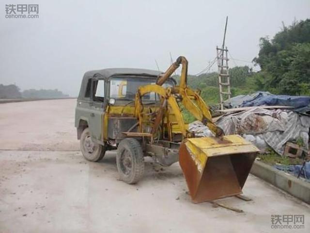 四轮车改装铲车怎么改 农用四轮车改装小铲车-西祠汽车