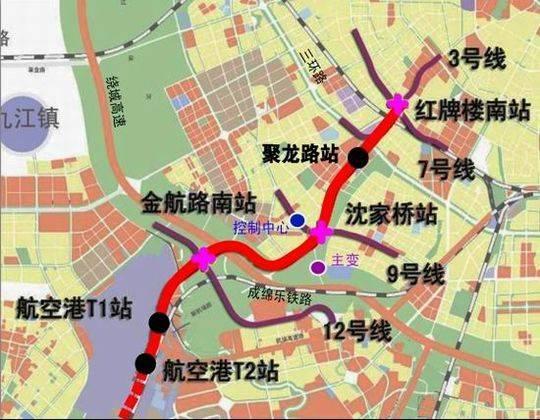 成都地铁2025年线网图