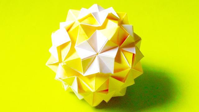 樱花纸花球的折法图解