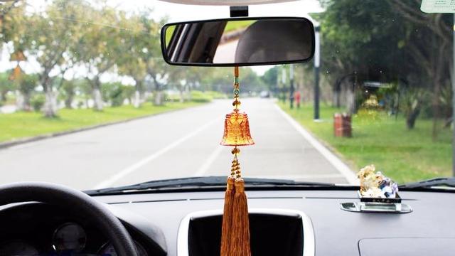 汽车挂件男女和田玉车载装饰品摆件车上吊坠保平安符车内吊饰风铃