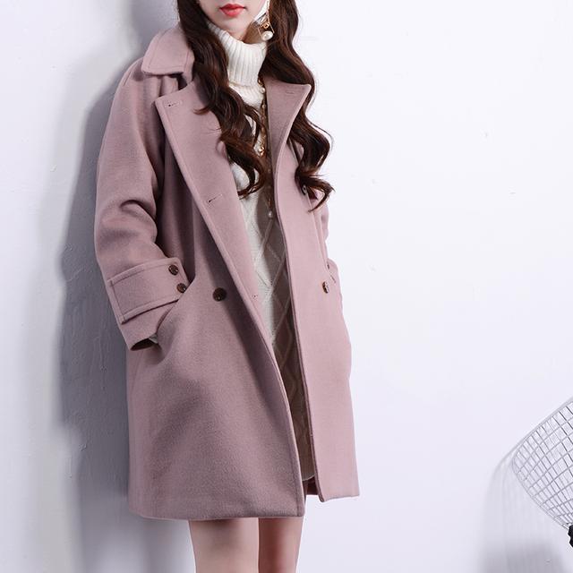 女士格子呢子大衣中长款【多图】_价格_图片- 天猫精选