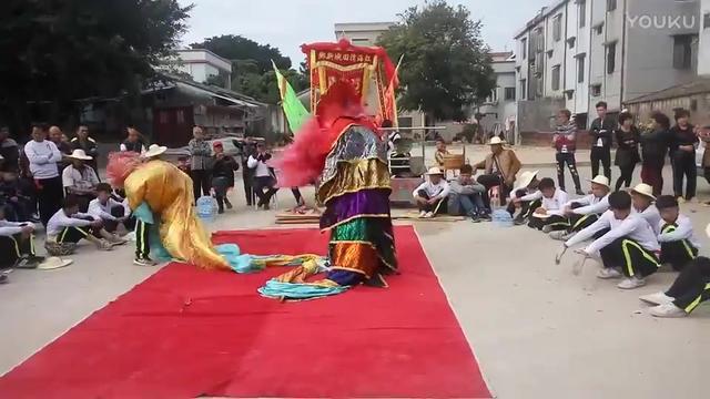 厉害的舞狮队,舞狮表演真不错!