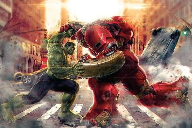 反浩克战甲vs绿巨人