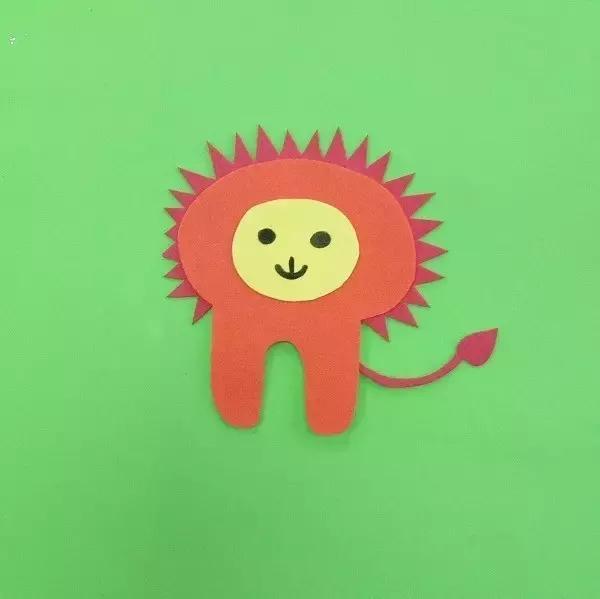 手工制作狮子头像面具