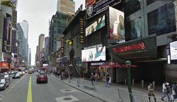 纽约时代广场夜景高清