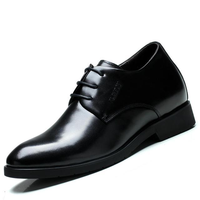 袋鼠增高休闲皮鞋