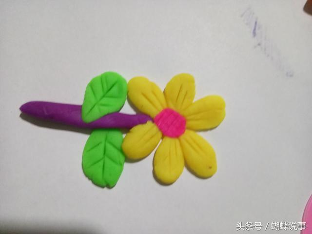 幼儿园图片橡皮泥花朵
