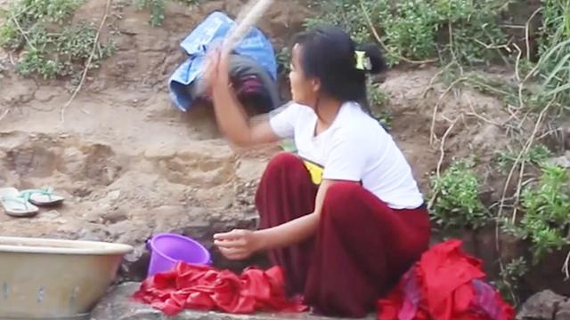 缅甸农村姑娘照片