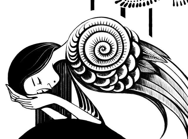 黑白装饰画优秀作品鱼
