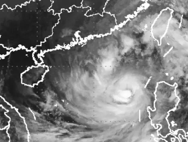 台风苏迪罗卫星云图